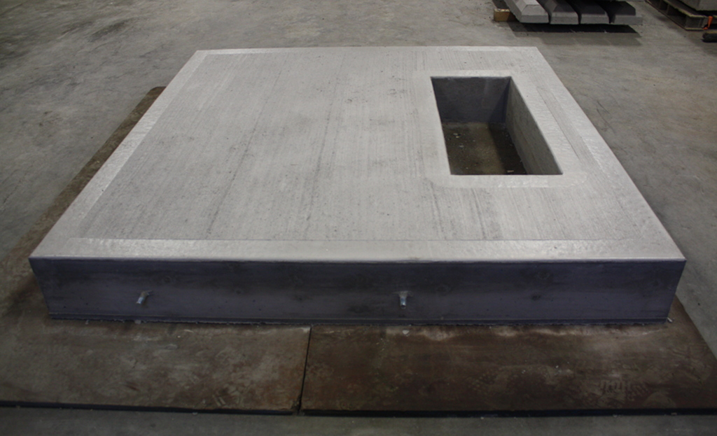 concrete electrical pad